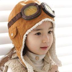 Crianças aviador chapéu de outono e inverno espessamento térmica criança cap protetor auricular térmica