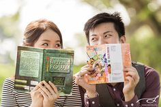 A book-themed Pre-wedding: Alvin & Lynette