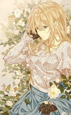violet evergarden, anime, and anime girl image