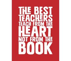 INSTANT Download The Best Teacher Quote Digital by typoem on Etsy