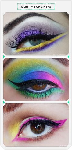 These neon eyes are not for the faint of heart! Do you beauties dare?