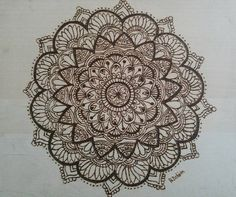 Mandala burnt onto wood by me Can choose from an assortment of mandalas 8x10 Option of the wood being stained