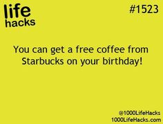 Starbucks birthday coffee