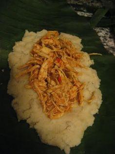 Ayacas de Pollo: Ecuadorean Chicken Tamales wrapped in Banana Leaves