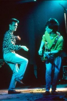 Morrissey and Johnny Marr: The Smiths perform 'Barbarism Begins At Home' live at the El Dorado Theatre in Paris, May 9th 1984.