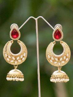 Beautiful Pearl & Polki Earrings
