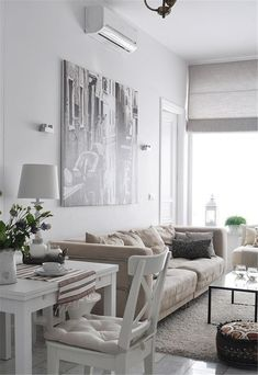 feminine apartments neutral living room