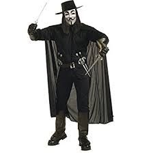 Black V for Vendetta cape. Team with our other V for Vendetta accessories to build your costume. Officially licensed V for Vendetta produc V For Vendetta Halloween Costume, Halloween Film, Clever Halloween Costumes, Hallowen Costume, Fete Halloween, Halloween Fancy Dress, Adult Halloween, Cool Costumes, Adult Costumes