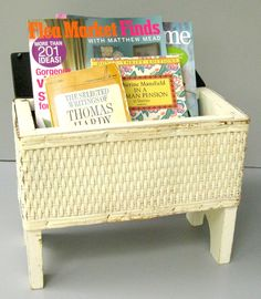 Unusual Vintage Wicker Shoe Shine Bench Basket by... | Wicker Blog  www.wickerparadise.com