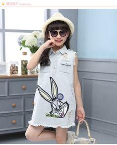 1580fb650e0a ... Years Girls Cotton Kids Girls School Clothes. Chaunaessy Johnsonbaby  girl clothes · ĐẦM JEAN HÌNH THỎ