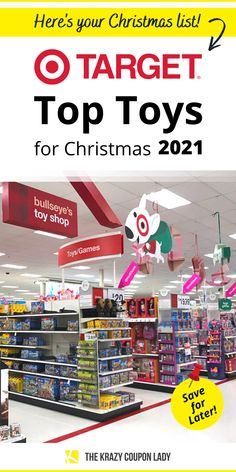 Looking for Target Top Toys for 2021? Your search is over! Target has announced their list just in time for the holiday season. With many retailers starting their Black Friday specials in October, it's good to know what's hot this season! To help keep you in the know this holiday season, follow KCL. For deals on video games, LEGO products, L.O.L. Surprise! toys, and more, The Krazy Coupon Lady has the shopping tips and money-saving hacks that will save your Christmas budget this year! Christmas On A Budget, Christmas Toys, Christmas Shopping, Lego Products, Toy Catalogs, Black Friday Specials, Coupon Lady, Top Toys, Shopping Tips