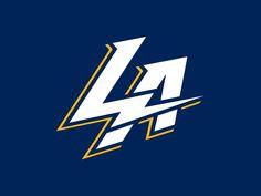 LA Chargers Concept by Torch Creative Popular Mascot Design, Badge Design, Initials Logo, Monogram Logo, Typographic Logo, Typography, Lettering, Lightning Logo, Fashion Logo Design