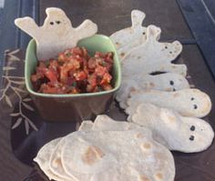 Ghost tortillas from Super Healthy Kids