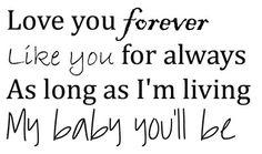 Vinyl: Love you forever