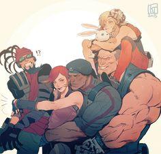 Mordecai, Lilith, Roland, Brick and Tiny Tina #borderlands