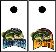 Bass Master Cornhole set 2 decals 22 wide x by StickitGraphixllc
