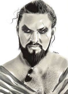 Jason momoa 858920960168259987 - Portrait of Jason Momoa (Khal Drogo) by SimonBartica on DeviantArt Source by jasmimlucchi Game Of Thrones Drawings, Game Of Thrones Artwork, Game Of Thrones Cast, Jason Momoa Khal Drogo, Jason Drawing, Kenzo, Portrait Art, Portraits, Game Of Trone