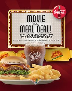 Johnny Rockets Dinner and a Movie