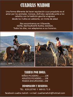 Cuadras Mahoh, una forma diferente de hacer equitación. Conoce, disfruta, relájate, aprende y divertirse junto a los caballos, con la tradición uruguaya.