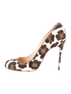 Brown, camel and ivory ponyhair Christian Louboutin round-toe pumps with tonal stitching throughout and covered heels. Christian Louboutin Red Bottoms, Louboutin High Heels, Christian Louboutin Outlet, Pump Shoes, Shoe Boots, Women's Boots, Toe Shoes, Dress Shoes, Clarks Shoes Women