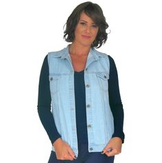 Colete jeans com aplicação personalizada nas costas da marca Coleteria ♡ - Coletes femininos e infantis - Coleteria   sempre♡
