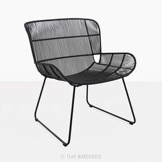 Nairobi Woven Outdoor Relaxing Chair Black | Patio Furniture | Benches