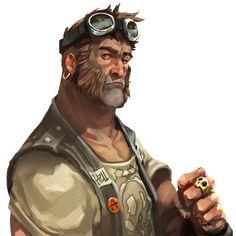 Nomad Portrait from Dead Island: Survivors #illustration #artwork #gaming #videogames #gamer