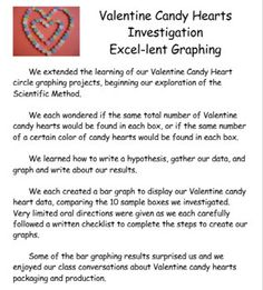 valentine candy hearts excel lent circle graphing winter holiday