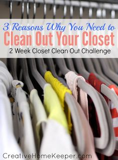 """Is your closet stuffed and overflowing? Do you hate having """"nothing to wear""""? It's time to tackle the 2 week closet clean out challenge!"""