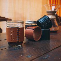 Wood&Faulk — Half Pint Leather Jar Sleeve $28.00 MXS