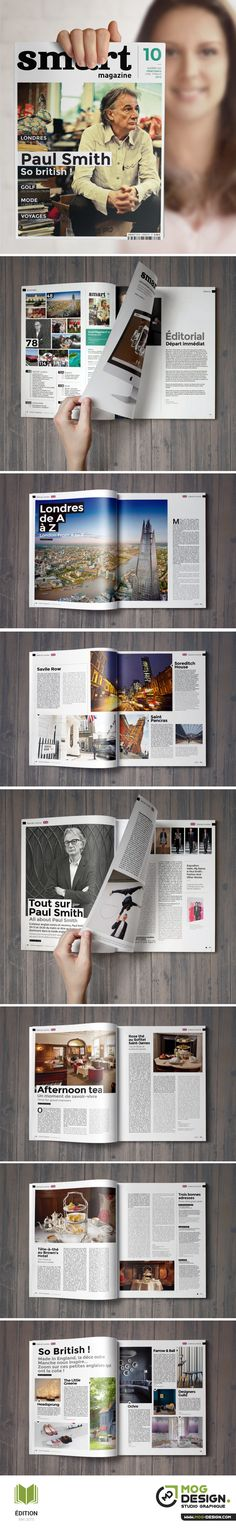 SMART Magazine. Charte graphique Mai 2015. Maquette + Mise en page : MOG DESIGN …