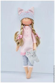 Коллекционные куклы ручной работы. Ярмарка Мастеров - ручная работа. Купить Katty. Интерьерная кукла.. Handmade. Бледно-розовый
