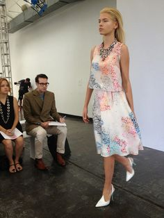 Tanya Taylor Runway.  Love the color! E.Kammeyer Accessories — New York Fashion Week Recap Part 1