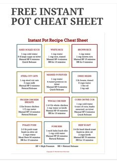 cooking tips - Instant Pot Cheat Sheet Instapotrecipes HealtyRecipes cheat healtyrecipes instant instapotrecipes sheet Power Pressure Cooker, Electric Pressure Cooker, Instant Pot Pressure Cooker, Pressure Cooker Recipes, Pressure Cooking, Pressure Pot, Instant Cooker, Power Cooker Recipes, Digital Pressure Cooker