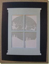 Memory Box stamp- Santa Globe D1821 Poppy Stamps die- Grand Madison Window 815
