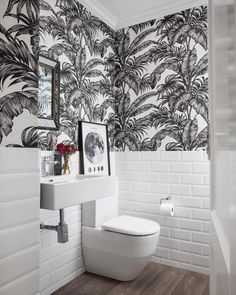 Kelly Adami of Copperleaf Studio loves to find balance Wet Room Bathroom, Bathroom Wallpaper, Bathroom Ideas, Interior Styling, Interior Design, Bathroom Design Inspiration, Wet Rooms, Retail Design, Studio