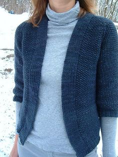 Minimalist Cardigan by Ruthie Nussbaum, knitted by knittingvortex | malabrigo Worsted in Paris Night