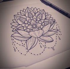 Dope Tattoos, Great Tattoos, Leg Tattoos, Flower Tattoos, Arm Tattoo, Body Art Tattoos, Tattoo Drawings, Lotus Tattoo, Mandala Tattoo