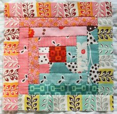 Hand Pieced Quilt-A-Long Block # 10 ~ Log Cabin Tutorial (Why Not Sew?)