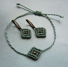 Ohrhänger - * Schmuckset Makramée *  - ein Designerstück von crochet bei DaWanda