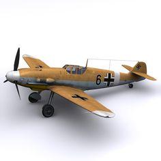 3d model german black 6 bf 109s