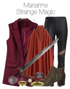 """""""Strange Magic- Marianne"""" by ravenclawchick852 on Polyvore featuring Office, Topshop, Bavna, Lime Crime, Christian Dior, Aurélie Bidermann, Dsquared2, women's clothing, women and female"""
