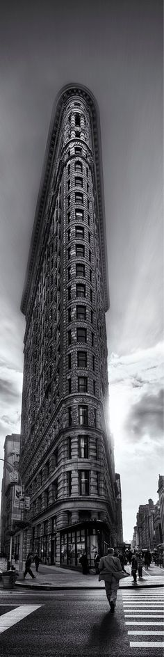 Flatiron building in New York city - love this building-when my relatives visit from overseas, I have favorite buildings I show them - this is one of them....