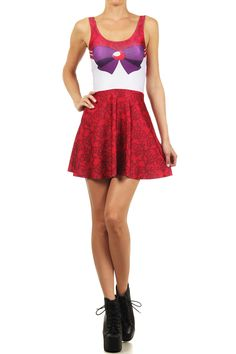 Sailor Mars Skater Dress from POPRAGEOUS