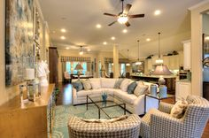 The elegant #family #room is truly the heart of the #home in this #floor #plan! #Relax, #entertain and fall in love with your home!