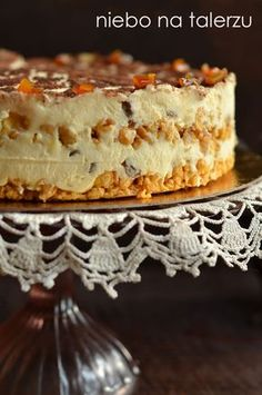 niebo na talerzu: Błyskawiczny sernik gotowany. Łatwy sernik bez pieczenia Polish Desserts, Polish Recipes, Cookie Desserts, Chrusciki Recipe, Sweet Recipes, Cake Recipes, Sweet Pastries, My Dessert, Pudding Cake