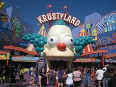 krustyland. Creepy, Scary, Awkward, Le Strange, Mickey Mouse, Disney Characters, Fictional Characters, Gallery, Restaurants