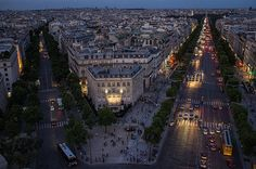 """ Champs Elysee by Marcel Felbor on Flickr. "" """