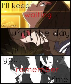 THIS HITS ME (AYANOXSHINTARO)  THIS ALSO REMINDS ME OF YATO WAITING FOR HIYORI TO. REMEMBER AAAA