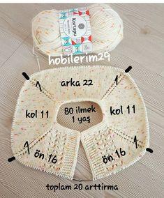 Crochet Heklanje: Kvadratni motiv sa ananasima za salvete i stolnjake - Moj rad 136 - sanfranciscostreets Baby Knitting Patterns, Baby Sweater Patterns, Baby Cardigan Knitting Pattern, Knitted Baby Cardigan, Knitting For Kids, Easy Knitting, Knitting Stitches, Baby Patterns, Baby Pullover Muster